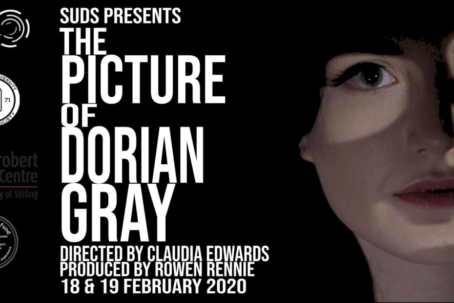Poster for SUDS' Picture of Dorian Gray, featuring Abby Ferguson as Dorian.